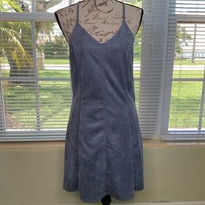 She & Sky dress blue size M ultra Suede